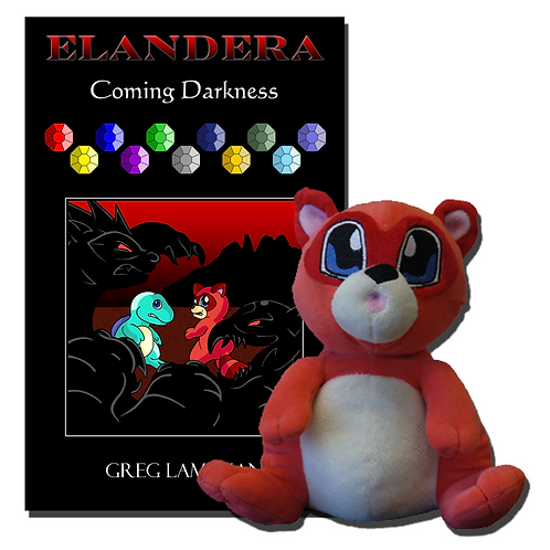 Coming Darkness Book and Ignicoon Plush Bundle