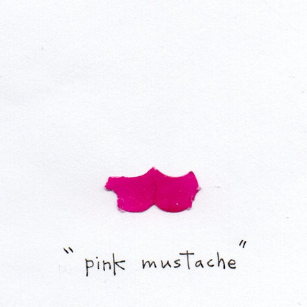 What I Found in a Bag of Confetti -pink mustache