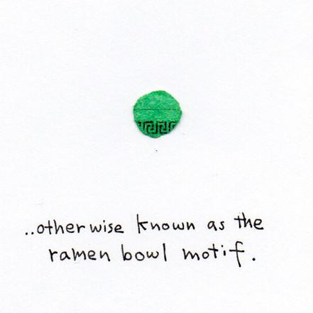 What I Found in a Bag of Confetti -ramen bowl