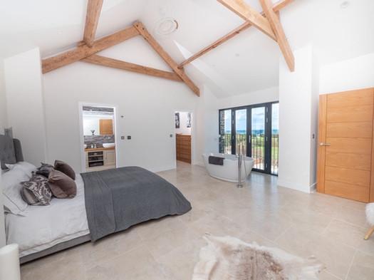 The Old Hay Barn. Cornwall. Master bedroom.
