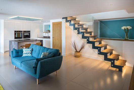 Ship House. Appledore. Devon. Contemporary Staircase.