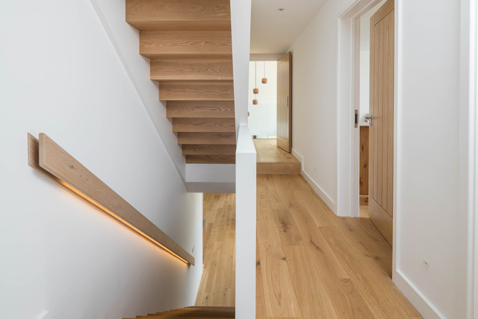 New Build. Bude. Cornwall. Contemporary Staircase.