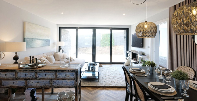 Bol y Maer Apartments. Bude. Cornwall. Living space.