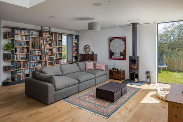 New Build. Bude. Cornwall. Living Room.