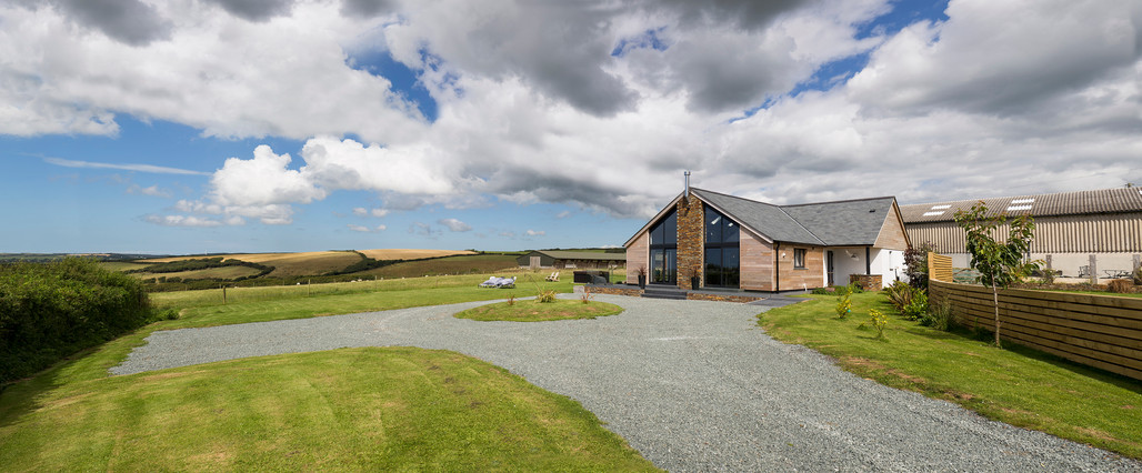 The Lodge. Bude. Cornwall. Exterior View.
