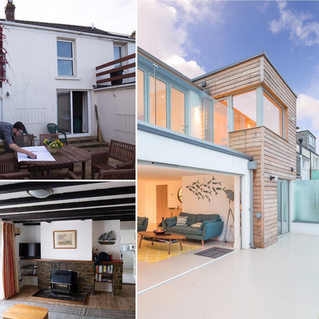 Renovation. Ship House. Appledore. Devon. Before and After.