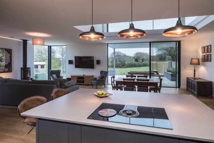 New Build. Bude. Cornwall. Kitchen.