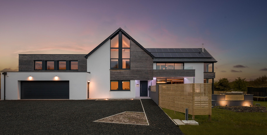 New Build. Bude. Cornwall. Exterior.
