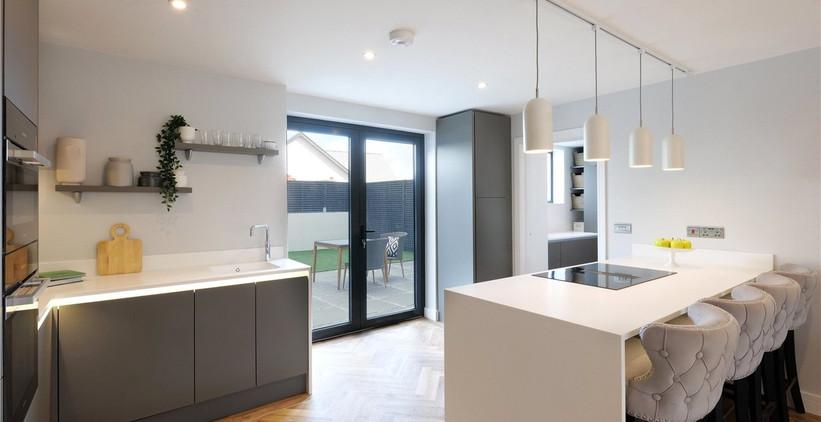 Bol y Maer Apartments. Bude. Cornwall. Kitchen.