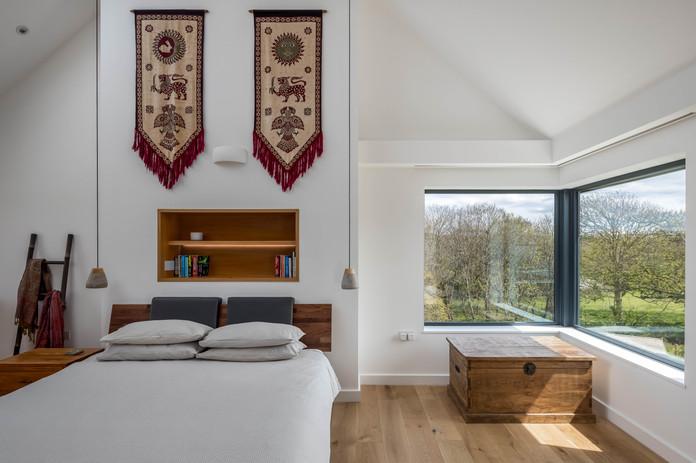 New Build. Bude. Cornwall. Master Bedroom.