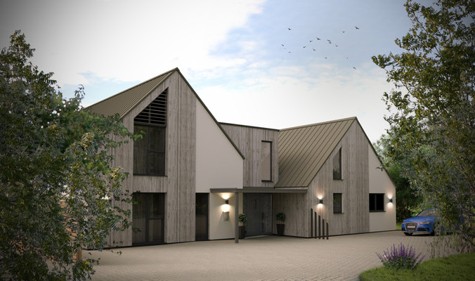 Trebursye. New Build Launceston. Cornwall.
