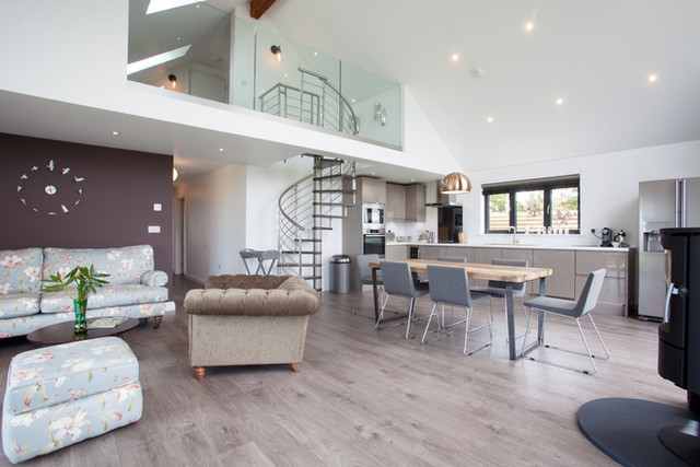 The Lodge. Bude. Cornwall. Open Plan Living Area.
