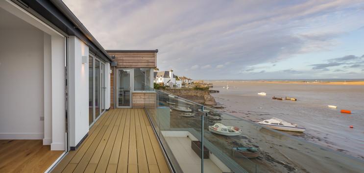 Ship House. Appledore. Devon. Outdoor Terrace.