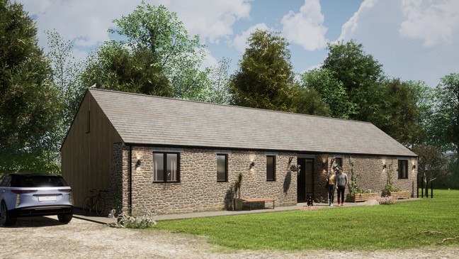 Orchard Barn. Pancrasweak. Devon. Stone Wall Concept.