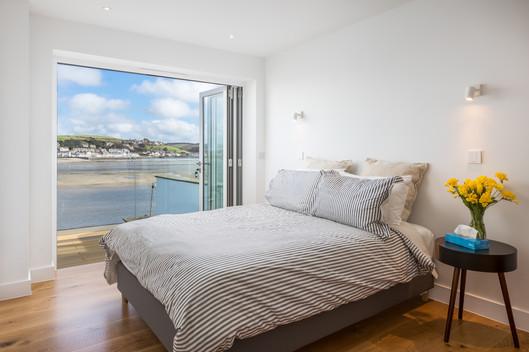 Ship House. Appledore. Devon. Modern Master Bedroom.