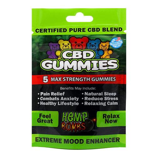 Hemp Bomb CBD Gummies 5 Count
