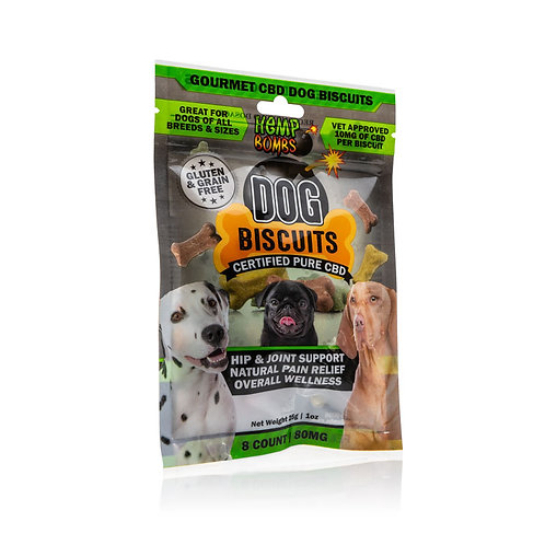 Hemp Bomb 8 count Dog Biscuits