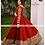 Red Georgette Embroidery Top With Mirror Work