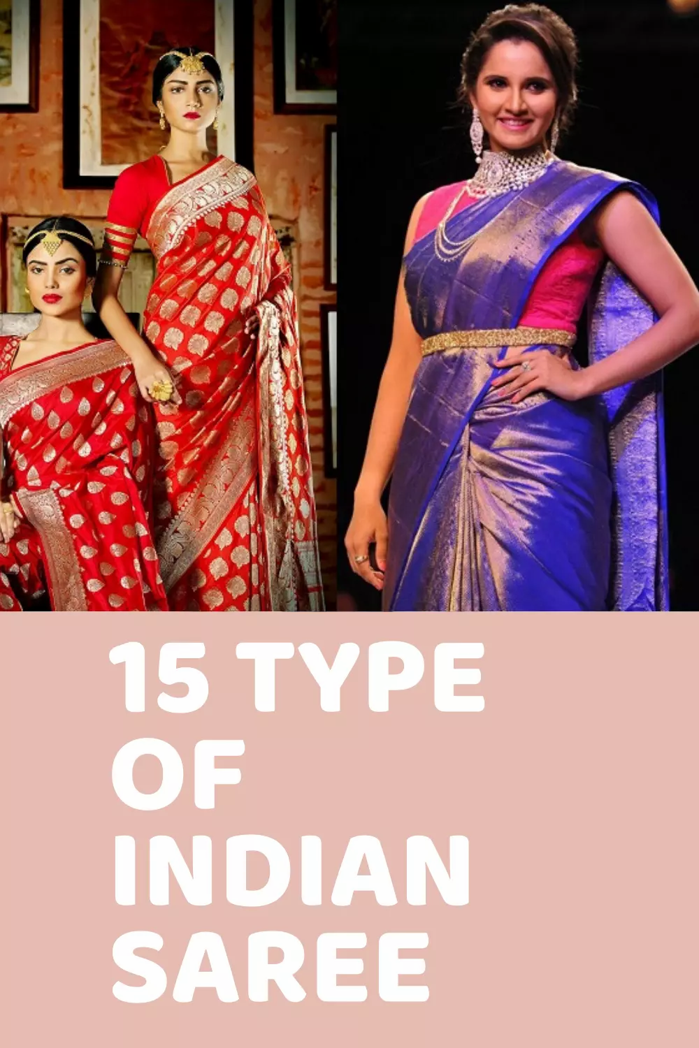 15 Types of Indian Saree