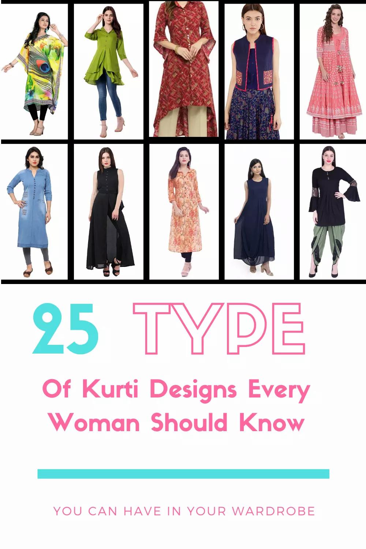 types of kurti
