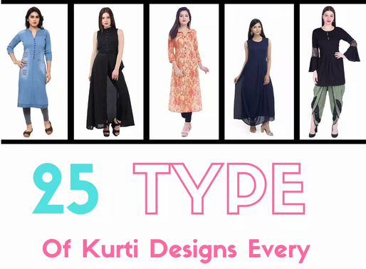 25 Types of Kurti Designs Every Woman Should Know And You Can Have In Your Wardrobe