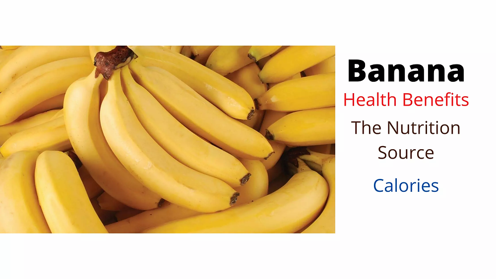 banana nutrient source and calories