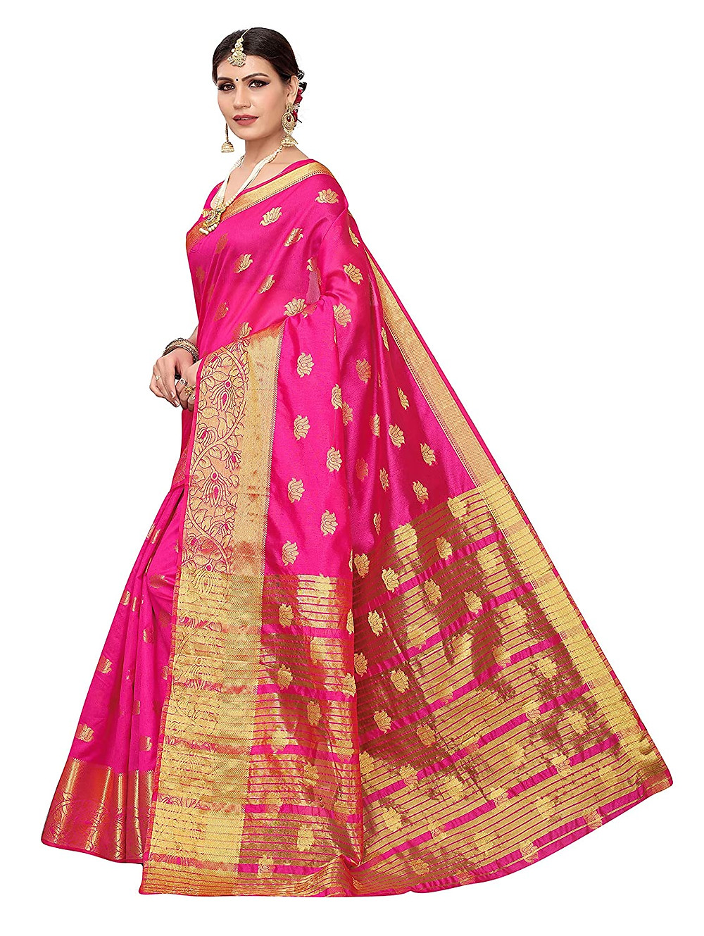 types of indian saree chanderi saree