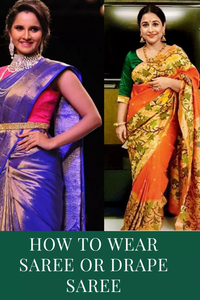how to wear saree or how to drape saree