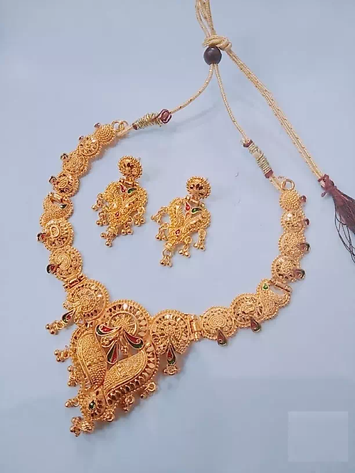 Party Wear Gold Plated Necklace Set