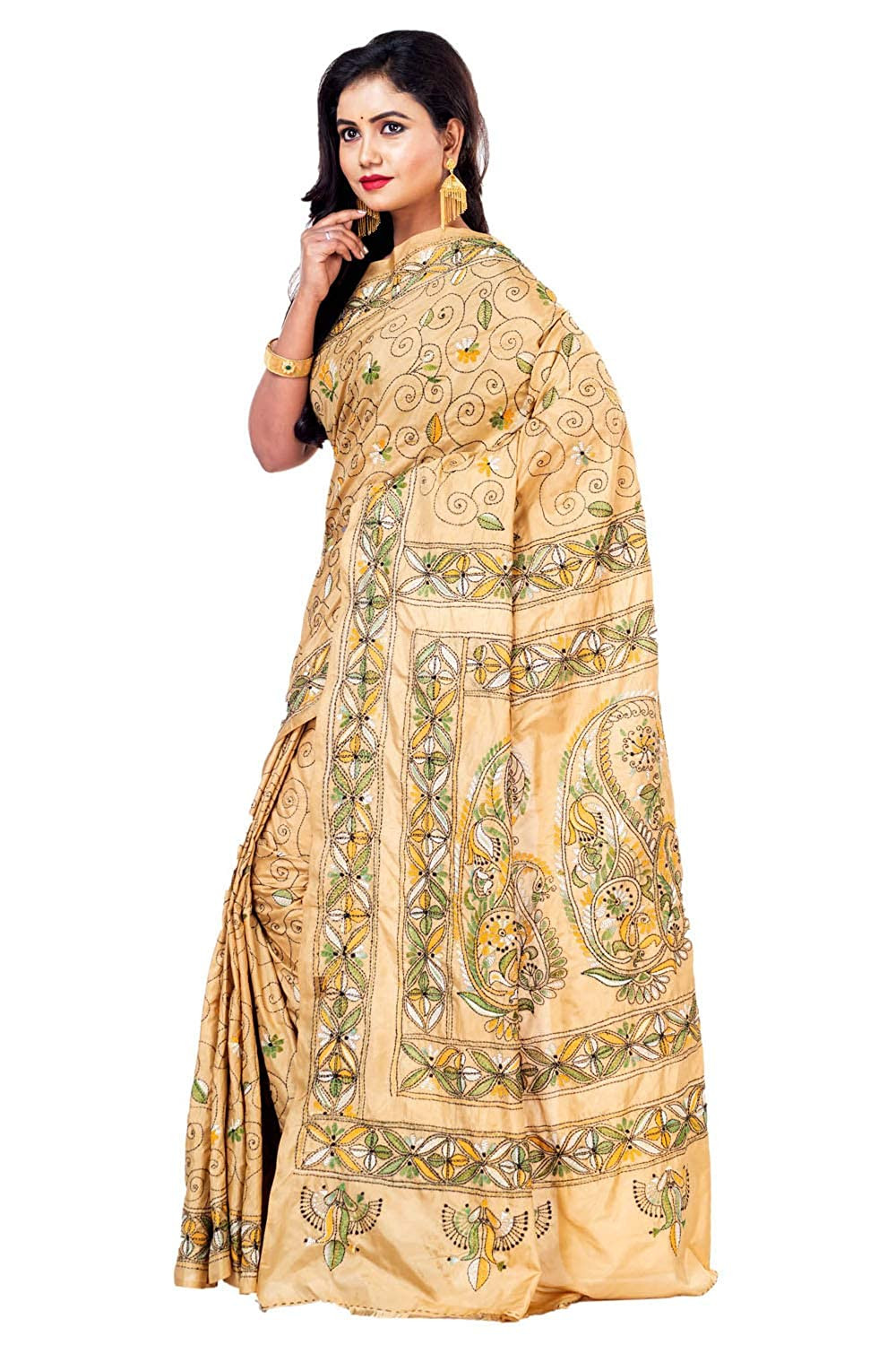 types of indian saree kantha saree