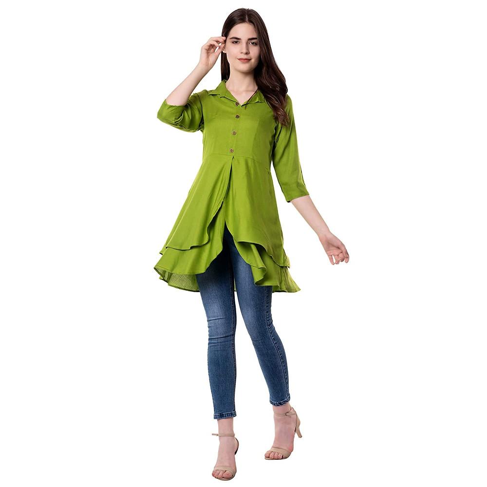 coller style kurti shirt style kurti