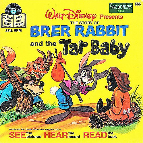 Walt Disney's Brer Rabbit and The Tar Baby (Read Along Book & Record)