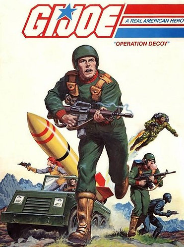G.I. Joe a Real American Hero - Operation Decoy (1983) Super Size Coloring Book