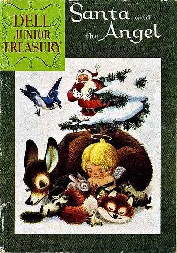 Dell Junior Treasury #7 (1957) SANTA and the Angel Winkie's First Trip & Return