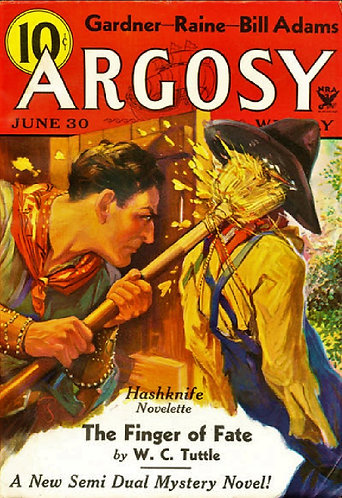 The Finger of Fate by WC Tuttle (1934) excerpted from Argosy Pulp Magazine