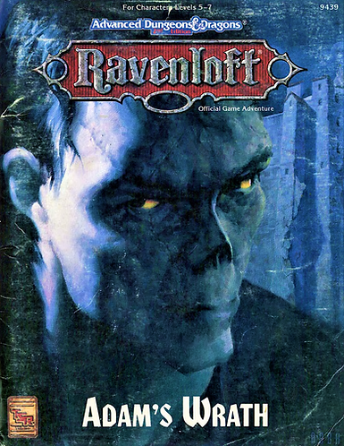 AD&D 2.0 Ravenloft Level 5-7 RPG Adventure - Adams Wrath