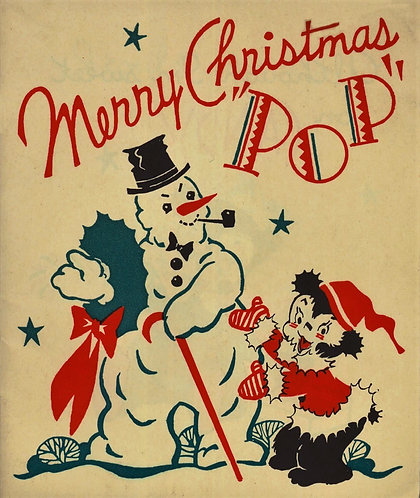 Merry Christmas Pop (Vintage Animated Advertising Story Booklet) c1900