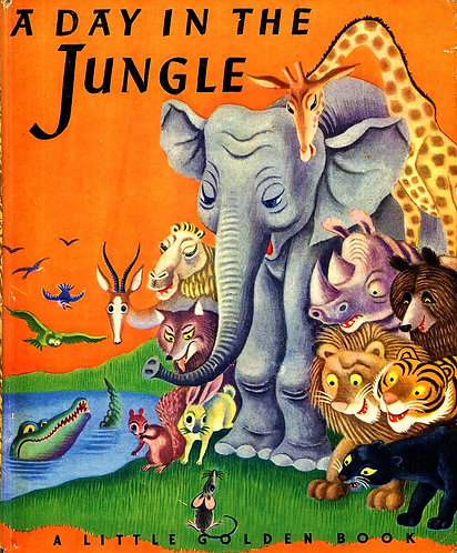 A Day In The Jungle (Little Golden #18) (1943) by Janette Sebring Lowrey [eBook]