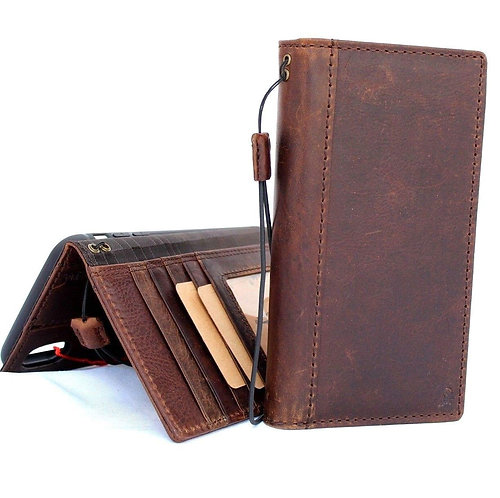 Genuine Handmade Leather Case and Card Wallet for iPhone XR
