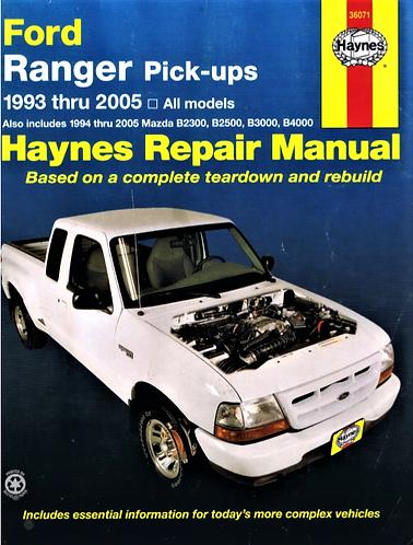 Ford Ranger & Mazda B Series Pickups Trucks (1993-2005) Repair Manual [Digital]