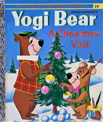 Yogi Bear A Christmas Visit | Little Golden #433 (1961) by S. Quentin Hyatt