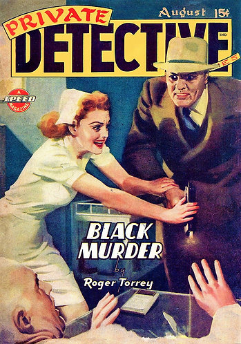 Private Detective Stories (Collection) August 1944 - BLACK MURDER - Roger Torrey