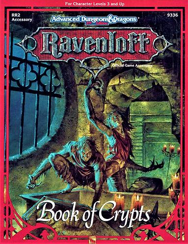AD&D 2.0 Ravenloft Level 3 RPG Adventure - Book Of Crypts