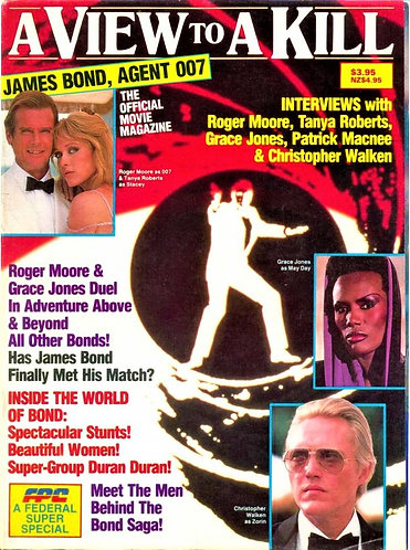James Bond: A View To A Kill (1985) Official Movie Magazine [Digital Back Issue]