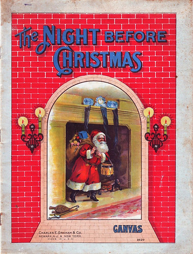 The Night Before Christmas (Canvas 0429) Charles E. Graham & Company (c1870)