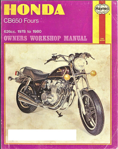 Honda CB650 Fours Motorcycle Owners Workshop Service Manual 1978-1980 No. 665