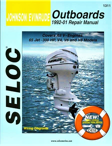 Johnson Evinrude Outboard Motors 1992-01 Repair Manual (SEL 1311) [Digital]