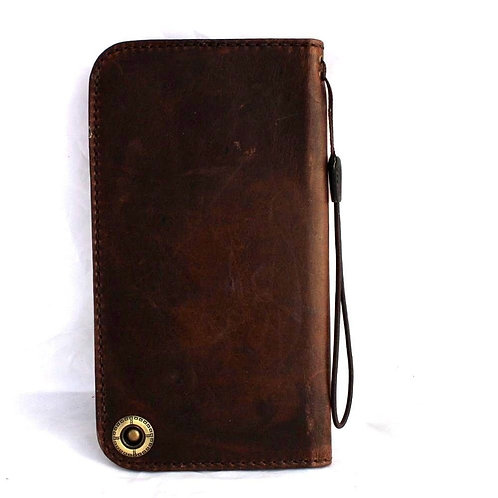 Genuine Italian Leather Case for Samsung Galaxy Note 5 / 4 / 3 Book Wallet