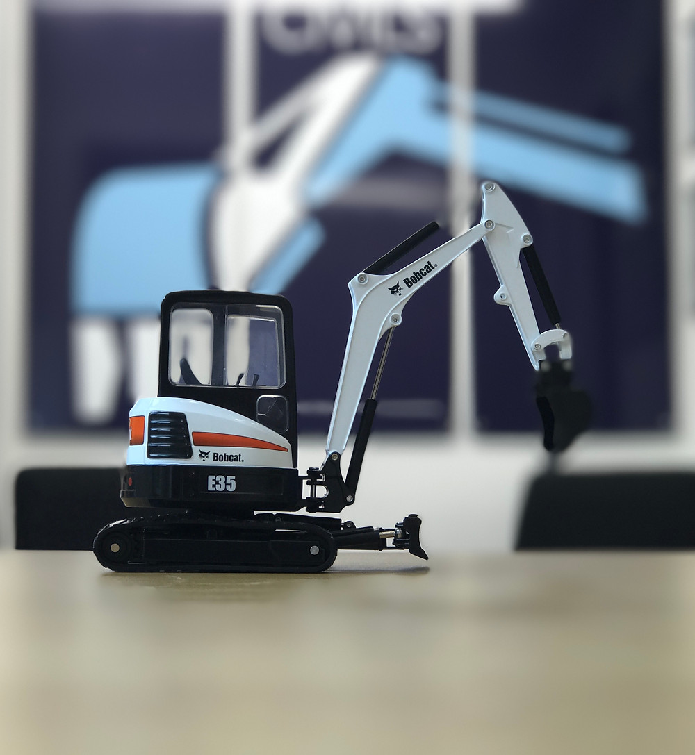 Look what we've won from RICHMOND PLANT HIRE LIMITED 10 year anniversary raffle! 1:25 Scale of the BobCat E35 Excavator.  Congratulations and cheers to many more years to come.