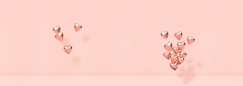 Pink 3D Hearts